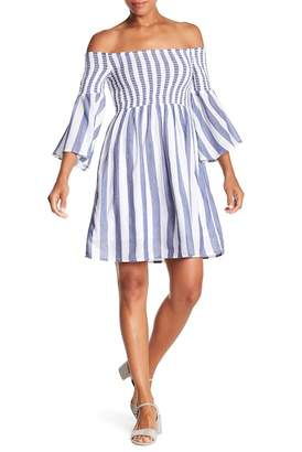 Lucky Brand Stripped Smocked Dress