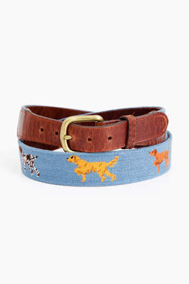 Smathers and Branson Dogs On Point Needlepoint Belt
