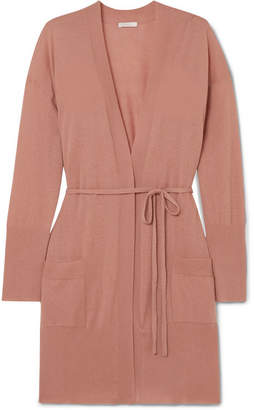 Eres Interdit Belted Cashmere Cardigan - Antique rose