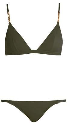 Melissa Odabash Mexico Triangle Bikini - Womens - Khaki