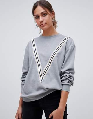 Minimum Moves By sporty stripe sweatshirt