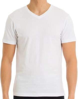 Joe Boxer Four-Pack V-Neck Cotton T-Shirts