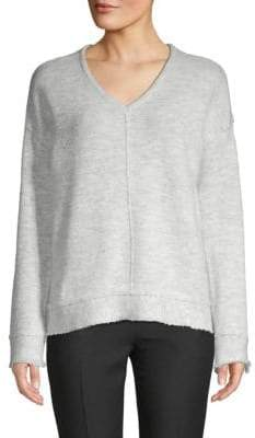 Fringed Long-Sleeve Sweater