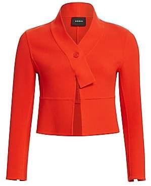 Akris Women's Wool Cropped Scarf Jacket