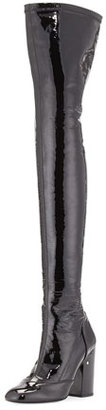 Laurence Dacade Madison Patent Over-The-Knee Boot, Black $1,895 thestylecure.com