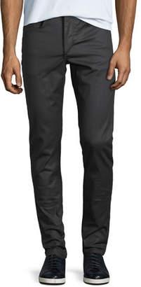 Rag & Bone Men's Standard Issue Fit 1 Slim-Skinny Jeans, Coated Black