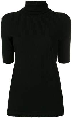 Helmut Lang ribbed roll neck top