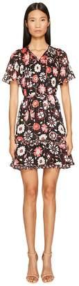 Kate Spade Casa Flora Flutter Sleeve Dress Women's Dress
