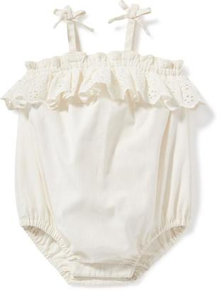 Ruffle-Trim Bubble Romper for Baby $18.94 thestylecure.com