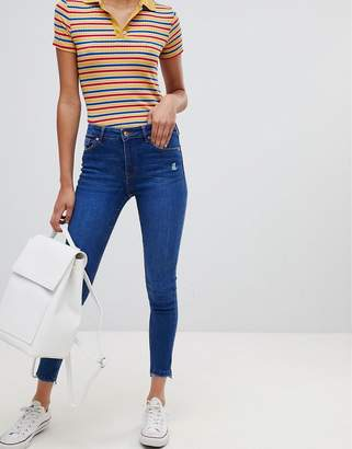Bershka low waist skinny with rip