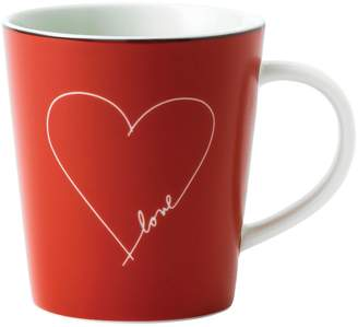 ED Ellen Degeneres Crafted by Royal Doulton White Heart Red Mug