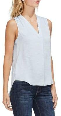 Vince Camuto Sapphire Sheen Sleeveless Rumple Top