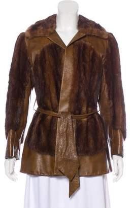Leather & Mink Coat