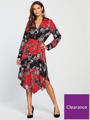 Wallis Paisley Shirt Dress - Red