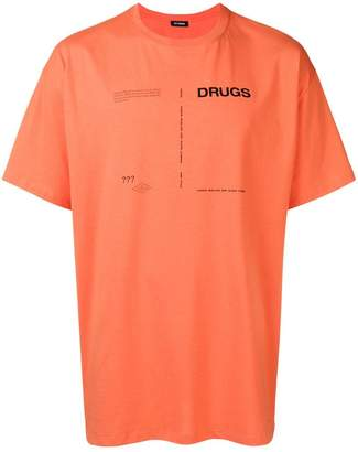 Raf Simons drugs print T-shirt