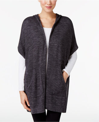 Eileen Fisher Organic Cotton Hooded Poncho $228 thestylecure.com
