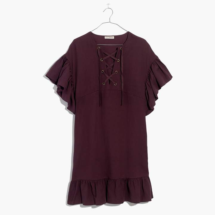 Madewell Ulla Johnson Marianne Lace-Up Dress