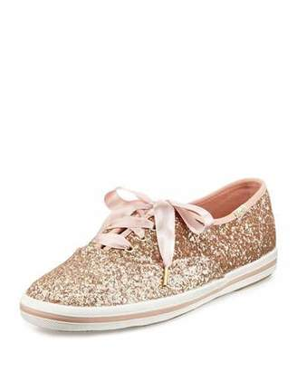 kate spade new york Keds® glitter sneaker, rose gold $75 thestylecure.com