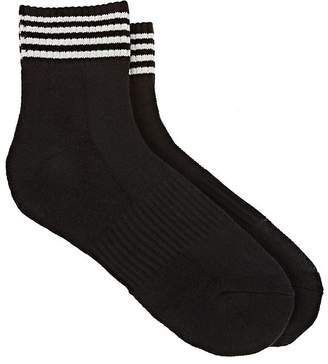 Yohji Yamamoto Men's Striped Cotton-Blend Ankle Socks