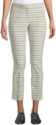 Theory Classic Skinny Pants - Viscose Grid