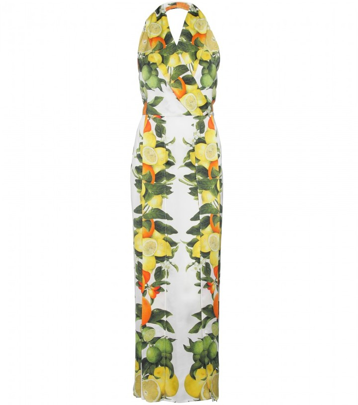 Stella McCartney HALTERNECK DRESS WITH CITRUS FRUIT PRINT