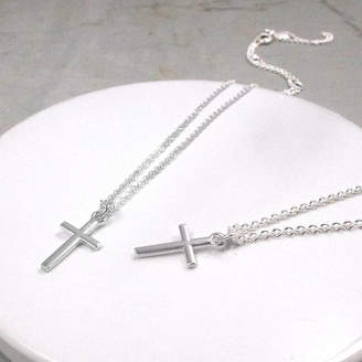fee07a22d3 Silver Cross Hersey Silversmiths Christening Or Confirmation Necklace
