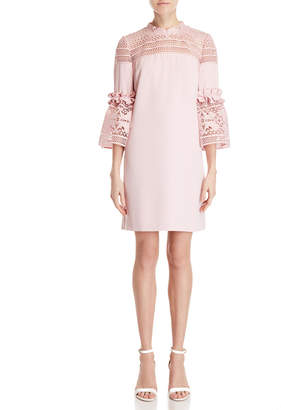 Ted Baker Pink Lace Inset Shift Dress