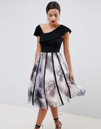 Coast Maude Printed Organza Volume Dress