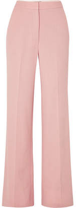 Lela Rose Wool-blend Wide-leg Pants - Pink
