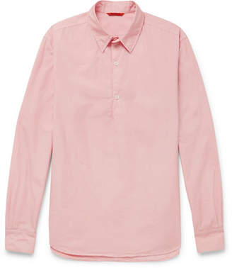 Barena Slim-Fit Cotton-Poplin Half-Placket Shirt