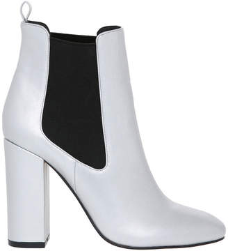 Pilar Silver Leather Boot