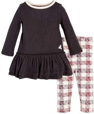 Burt's Bees Thermal Skater Organic Baby Girls Charcoal Dress & Legging Set