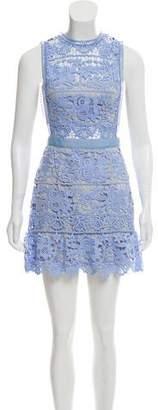 Self-Portrait Cut-Out Guipure Lace Dress
