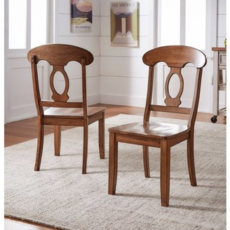 Inspire Q Weston Home Farmhouse Dining Chair with Napoleon Back