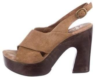 Calleen Cordero Suede Platform Sandals