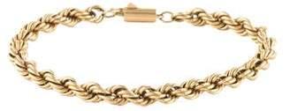 14K Twisted Rope Bracelet
