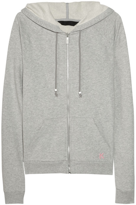 Karl Lagerfeld Cotton-jersey hooded top