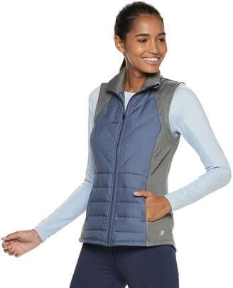 Fila Sport Women's SPORT Mixed Media Quilted Vest