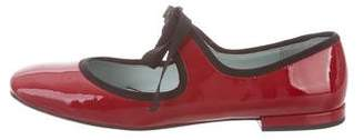 Marc Jacobs Patent Leather Square-Toe Flats