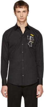 Dolce & Gabbana Black King Skeleton Shirt