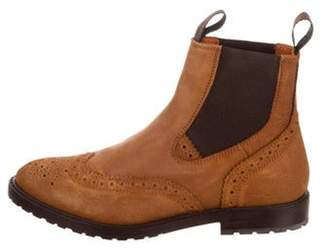 Santoni Brogue Chelsea Boots w/ Tags brown Brogue Chelsea Boots w/ Tags