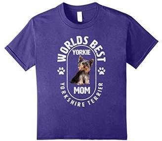 Worlds Best Yorkie Mom T Shirt