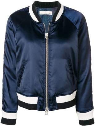 Golden Goose stripe detail bomber jacket