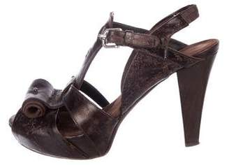 Henry Beguelin Distressed Cage Sandals