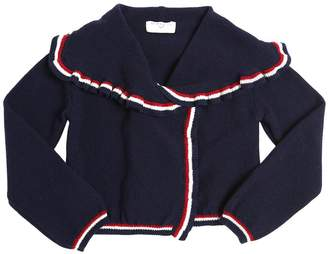 MonnaLisa Cropped Wool Knit Cardigan