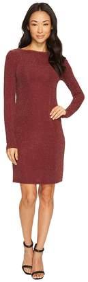 MICHAEL Michael Kors Metal Dot Long Sleeve Boat Neck Dress Women's Dress