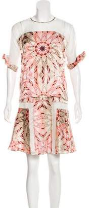 Philosophy di Alberta Ferretti Silk Printed Dress