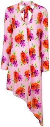 MSGM asymmetric floral dress