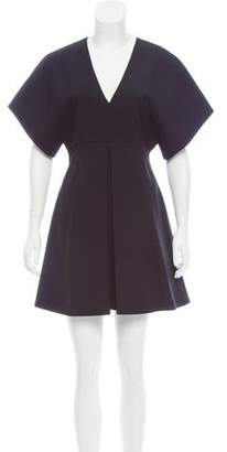Saint Laurent Wool A-Line Dress