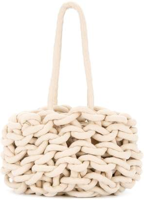 Alienina braided tote bag